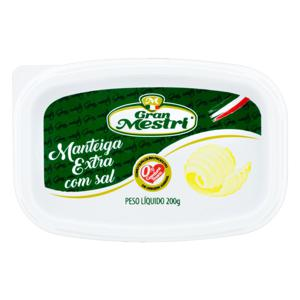 Manteiga Extra com Sal Gran Mestri Pote 200g