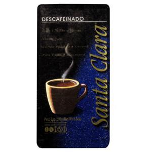 Café Torrado e Moído a Vácuo Descafeinado Santa Clara Pacote 250g