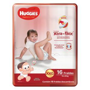 Fralda Descartável Infantil Huggies Supreme Care XXG Pacote 16 Unidades