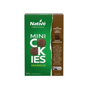 Mini cookies orgânicos sabor chocolate Native - 120 g
