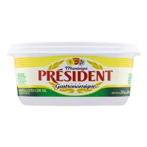 Manteiga Extra com Sal Président Gastronomique Pote 200g