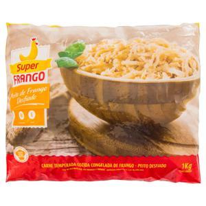 Peito de Frango Desfiado Cozido Congelado SUPERFRANGO Pacote 1kg