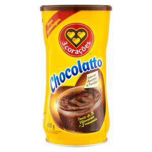 Achocolatado em Pó 3 Corações Chocolatto Lata 400g