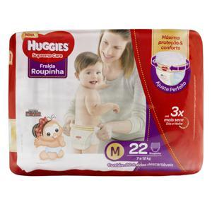 Fralda Descartável Infantil Roupinha Huggies Supreme Care M Pacote 22 Unidades