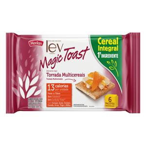 Torrada Multicereais Integral Marilan Lev Magic Toast Pacote 150g