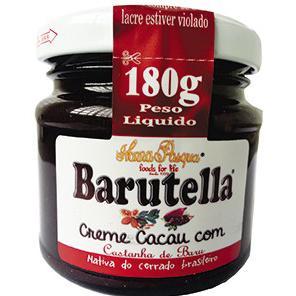Barutella - Creme Cacau com Castanha de Baru (180g)