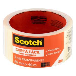 Fita Adesiva Corta Fácil Transparente Scotch 45mm x 40m