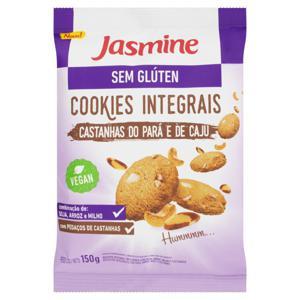 Biscoito Cookie Integral Castanha-do-Pará e Caju sem Glúten Jasmine Pacote 150g