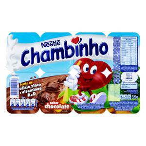 Sobremesa Láctea Chocolate Nestlé Chambinho Bandeja 320g 8 Unidades