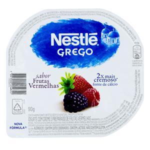 Iogurte Grego Frutas Vermelhas Nestlé Pote 90g