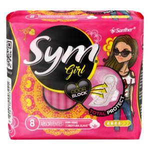 Absorvente com Abas Suave Total Protect Sym Girl Pacote 8 Unidades