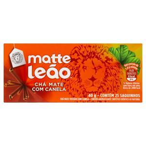 Chá Mate Canela Matte Leão Caixa 40g 25 Unidades