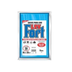Sacos para Lixo LEVFORT Azul 15L Com 20 Unidades