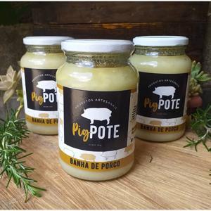 Banha de porco pura 500ml - Pig Pote