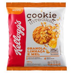 Biscoito Cookie Integral Granola, Linhaça e Mel Kellogg's Pacote 150g