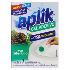 Detergente Sanitário Gel Adesivo com Aplicador Pinho Siberiano Aplik 7g