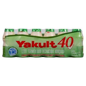 Pack Leite Fermentado Desnatado Yakult 40 Frasco 480g 6 Unidades