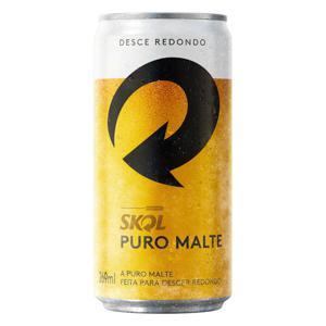 Cerveja American Lager Premium Puro Malte Skol Lata 269ml