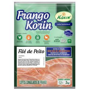 Filé de Peito de Frango Congelado Livre de Transgênicos 1Kg