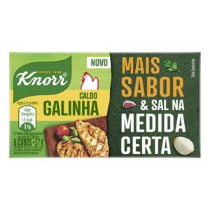 Caldo em Tablete Galinha Knorr Caixa 57g 6 Unidades