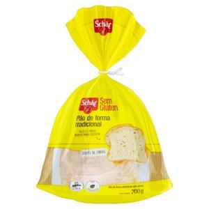 Pão de Forma Tradicional sem Glúten Schär Pacote 200g