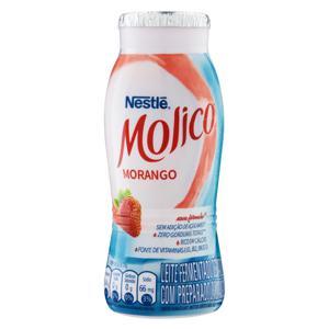 Leite Fermentado Desnatado Morango Nestlé Molico Frasco 170g