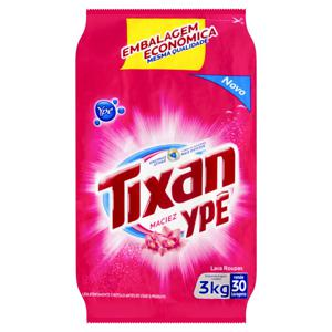 Lava-Roupas em Pó Maciez Tixan Ypê Pacote 3kg Embalagem Econômica