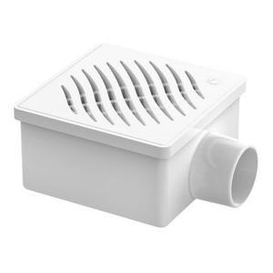TIGRE Ralo Sifonado Quadrado Branco Grelha Branca 100X53X40