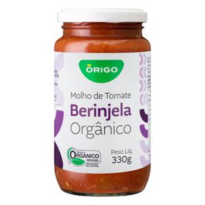 Molho De Tomate Orgânico Com Berinjela (330g)