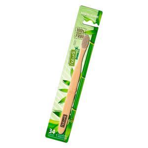 Escova Dental Bamboo 34 Tufos Natural Unidade