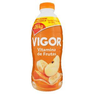 Iogurte Parcialmente Desnatado Vitamina de Frutas Vigor Garrafa 1,26kg