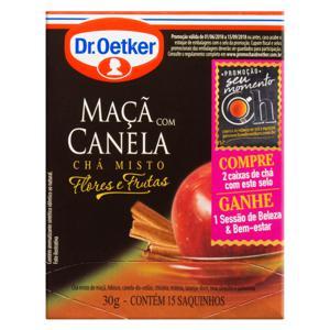 Chá Misto Maçã com Canela Dr. Oetker Flores e Frutas Caixa 30g 15 Unidades