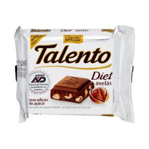 Chocolate TALENTO Diet Avelã 25g