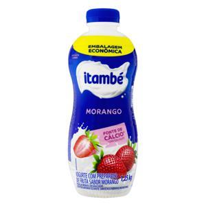 Iogurte Parcialmente Desnatado Morango Itambé Garrafa 1,25kg Embalagem Econômica