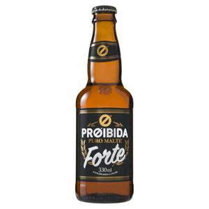 Cerveja Golden Lager Puro Malte Forte Proibida Garrafa 330ml