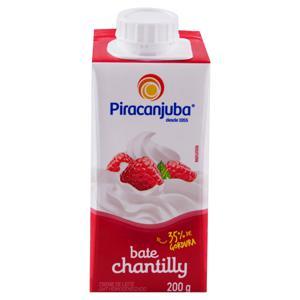 Creme de Leite UHT Homogeneizado Bate Chantilly Piracanjuba Caixa 200g