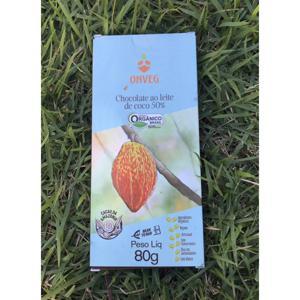 Chocolate ao leite de coco 50% (80g)