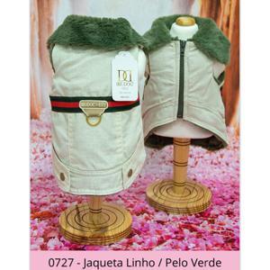 Jaqueta Linho Pelo Verde Dudog Vest