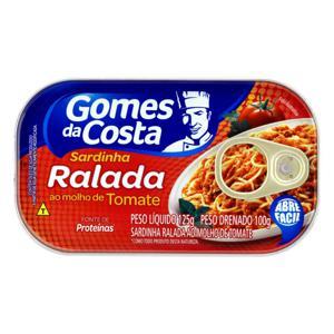 Sardinha Ralada ao Molho de Tomate Gomes da Costa Lata 100g