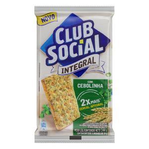 Pack Biscoito com Cebolinha Integral Club Social Pacote 144g 6 Unidades