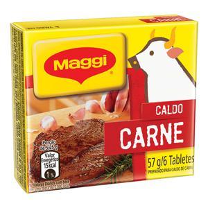 Caldo em Tablete Carne Maggi Caixa 57g 6 Unidades