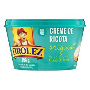 Creme de Queijo Ricota Original Tirolez Pote 200g
