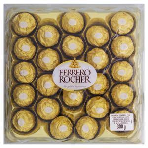 Bombom com Cobertura de Chocolate ao Leite Ferrero Rocher Bandeja 300g