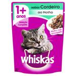 Alimento para Gatos Adultos 1+ Cordeiro ao Molho Encorpado Whiskas Sachê 85g