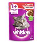 Ração Whiskas 85G Adulto Carne/Sals