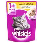 Alimento para Gatos Adultos 1+ Frango ao Molho Encorpado Whiskas Sachê 85g