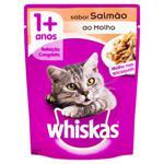 Alimento para Gatos Adultos 1+ Salmão ao Molho Encorpado Whiskas Sachê 85g