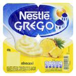 Iogurte Integral Grego Abacaxi Nestlé Bandeja 400g 4 Unidades