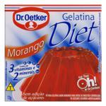 Gelatina em Pó Morango Diet Dr. Oetker Caixa 12g