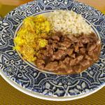 Picadinho de Filé Mignon (com arroz integral e farofa de bananas) 350g